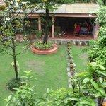 View to garden restaurant
