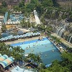 top view water park
