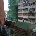 低層階のためか、部屋からの眺めはNG