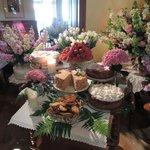 Dessert table at Rozana Restaurant