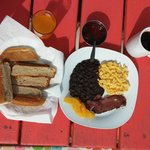 Delicious Belizean breakfast made to order!