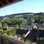 Uitzicht vanuit kamer op Hellenthal