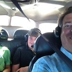 """Eric """"had the plane"""" while I took this family """"selfie""""."""