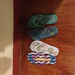 slippers in the room - this did make me smile