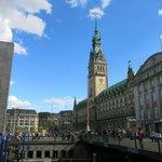 Rathausmarkt in summer