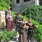 Performers at Bled Castle