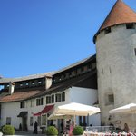Bled Castle lower courtyard
