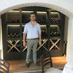 Boss Filippo with his wine selection
