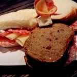 Interlaken Unterseen - Treff - Salami Sandwich freshly made with different breads, yummy
