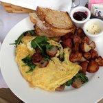 Fresh Spinach & Sausage Omelet