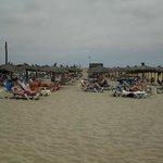 Het strand van het hotel