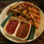 The sweet potato fries are a must order - thank us later