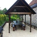 Outdoor ranch-esque seating