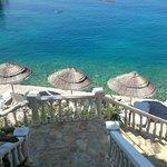 Widok na prywatną plaże