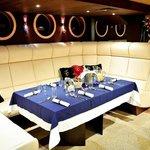 Sala restauracyjna na pokładzie