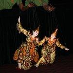 Beautiful traditional Burmese puppets