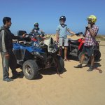 fantastic day ! Quad biking with our guide Mohammed in Diabat
