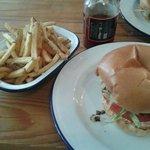 Burger, fries & 'house red' ketchup
