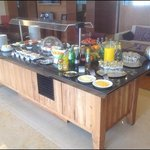 some of the snacks & beverages available in the executive lounge