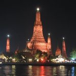 Le Temple de l'Aube la nuit