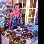 Sylvie Tostivint, très accueillante et fait une cuisine délicieuse avec amour