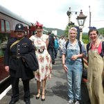 Visitors in WW2 costumes