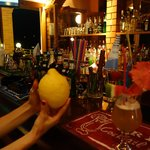 Bar and a giant lemon from Yanni's tree :)