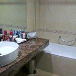 Teil des Badezimmers