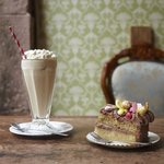 Milkshake & a slice of Cake
