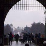 Вид на Триумфальную арку из замка