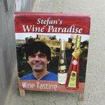 Stefan's Wine Paradise sign