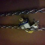 this chain and lock were above my head.