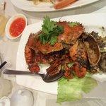 The signature black pepper crab!