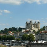 The pretty market town of Saumur, perched by the river Loire