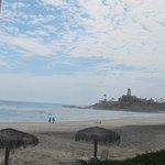 View down the beach to the Hacienda