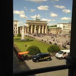 view from dining area of Brandenburg Gate