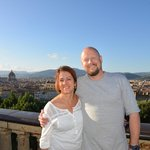 Piazza Michaelangelo; one of many places we walked to