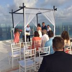 getting married on the rooftop terrace
