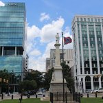 Confederate monument and flag, South Carolina State House, June 2014