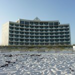 View fo the hotel from the beach