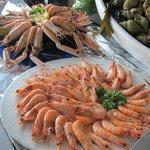 Extrait du buffet de fruits de mer