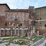 Augustus forum ruins.