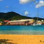 Christiansted from the beach