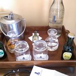 Complimentary drinks in the room, most excellent!