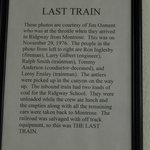 The last train in Ridgway
