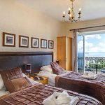 """Room 12 - a lovely 2nd floor sea view balcony room, with superking (6"""") bed which can also be a"""