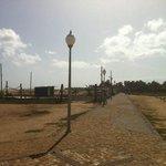 The walkway on the beach