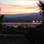 evening view from inn