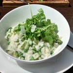 Pea and Asparagus Risotto