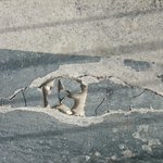 Cracked concrete - like this all along landing